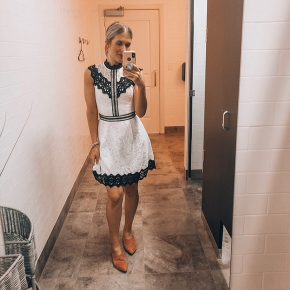 Adelyn Rae Dresses & Skirts - NWT Adelyn Rae Black and White Lace Mini Dress